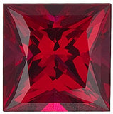 Grade GEM Princess Cut Loose Ruby Chatham Created Synthetic Gemstone