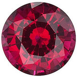 Chatham Loose Ruby Gemstones in Round Cut - Grade GEM