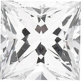 Grade GEM Princess Cut Loose White Sapphire Chatham Created Synthetic Gemstone