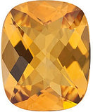 Genuine Grade AA Checkerboard Antique Cushion Genuine Citrine Birthstone Gems