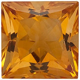 Fine Quality Grade AA Princess Cut Genuine Citrine Birthstone Gems