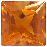 Grade AAA Real Princess Cut Genuine Citrine Gemstones