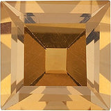 Grade A Genuine Step Square Genuine Citrine Gemstones
