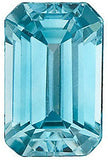 AAA Grade Emerald Cut Genuine Blue Zircon Loose Gems for SALE