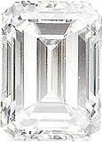 Genuine Diamond Melee Standard Gems in Emerald Cut, F Color - VS Clarity