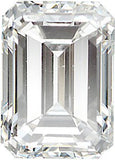 Standard Size Emerald Cut Loose Diamond Melee Gems in G-H Color - VS Clarity