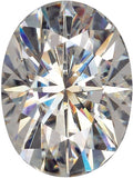 Loose Lab Created Forever One Near Colorless Moissanite Gemstones in Oval Cut, 6.00 x 4.00 mm to 10.00 x 8.00 mm
