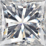 Princess Cut Synthetic Loose Forever One Near Colorless Moissanite Calibrated Gems, 5.50 mm to 8.00 mm