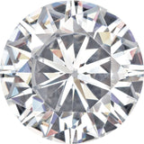Lab Created Loose Forever One Moissanite Near Colorless Round Cut, 4.00 mm to 12.00 mm