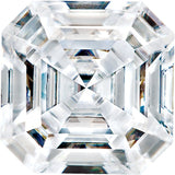 Forever One Moissanite Colorless  Asscher Cut, 6.50 mm to 9.00 mm