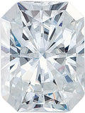 Forever One Moissanite Colorless Emerald Radiant Cut, 6.00 x 4.00 mm to 10.00 x 8.00 mm