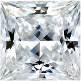 Forever One Moissanite Colorless Princess Cut, 5.50 mm to 6.50 mm