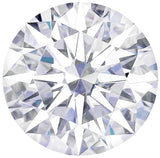 Forever One Moissanite Colorless Round Hearts & Arrows Cut, 6.50 mm to 9.00 mm
