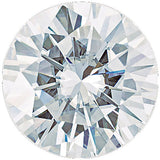 Round Cut Forever One Colorless Synthetic Moissanite Gemstones, 2.50 mm to 10.00 mm