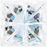 Forever One Moissanite Colorless Square Brilliant Cut, 4.00 mm to 6.50 mm