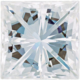 Forever One Moissanite Near Colorless Square Brilliant Cut, 4.00 mm to 6.50 mm