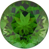 Natural Round Shape Standard Size Green Tourmaline AAA Grade Loose Gem