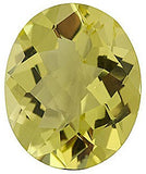 Top Quality Checkerboard Oval Genuine Lemon Quartz Loose Gems in Grade AA