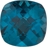 Top Quality London Blue Topaz Gem in Antique Square Checkerboard Cut AAA Grade