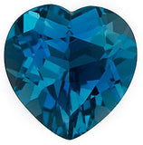 Beautiful Natural London Blue Topaz Gem in Heart Cut AAA Grade