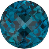 Discount Price London Blue Topaz Gem in Round Checkerboard Cut AAA Grade