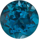 Round Cutest London Blue Topaz Gem in AAA Grade