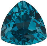 Natural London Blue Topaz Gem in Trillion Cut AAA Grade