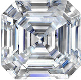 Forever One Moissanite Near Colorless Asscher Cut Gemstone, 6.50 mm to 9.00 mm