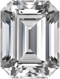 Near Colorless Forever One Moissanite Gemstone in Emerald Step Cut, 6.00 x 4.00 mm to 10.00 x 8.00 mm