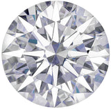 Round Hearts & Arrows Cut Near Colorless Lab Created Forever One Moissanite, 6.00 mm to 9.00 mm