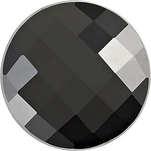 Details about  /Amazing Lot Natural Black Onyx 16X16 mm Round Checker Cut Loose Gemstone H-08