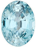 Genuine Loose Blue Zircon AAA Grade Oval Cut Gems for SALE