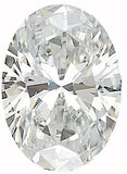 Oval Shape Calibrated Size Diamond Melee in GH Color, SI1 Clarity, 4.00 x 3.00 mm to  7.00 x 5.00 mm
