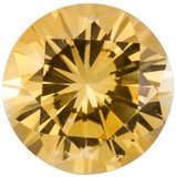 Natural Round Cut Loose Yellow Sapphire Gems in Grade AA