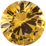 Grade AAA Top Quality Genuine Yellow Sapphire Gemstones in Round Cut