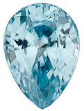 Pear Cut Shape Loose Genuine Blue Zircon in Grade AAA