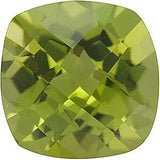 Discount Price AAA Grade Loose Peridot Gems in Checkerboard Antique Square Cut