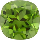 AAA Grade Calibrated Size Genuine Peridot Gemstones in Antique Square Cut