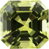 Good Looking Asscher Cut Genuine Peridot Gemstones in AAA Grade