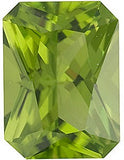 AAA Grade Standard Size Genuine Peridot Gemstones in Arizona Radiant Cut