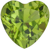 Super Pretty AAA Grade Loose Peridot Gems in Heart Cut