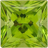 Quality Swarovski Cut GEM Grade Genuine Peridot Gemstones in Princess Cut