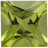 AAA Grade Natural Loose Peridot Gems in Princess Cut