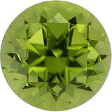 Swarovski Cut GEM Grade Super Pretty Genuine Peridot Gemstones in Apple Color Round Cut