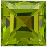 AAA Grade Best Price Loose Peridot Gems in Step Square Cut