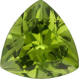 Calibrated Size AAA Grade Genuine Peridot Gemstones in Trillion Cut