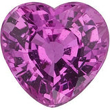 Natural Heart Shape Genuine Pink Sapphire Gemstones in Grade AAA