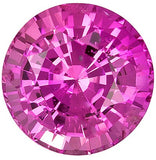 Loose Natural AAA Grade Round Cut Genuine Pink Sapphire Gemstones
