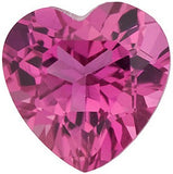 Standrd Size AAA Grade Loose Genuine Pink Tourmaline Gems in Heart Cut