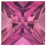 Beautiful Loose Genuine Pink Tourmaline Princess Cut Gems in Grade AAA